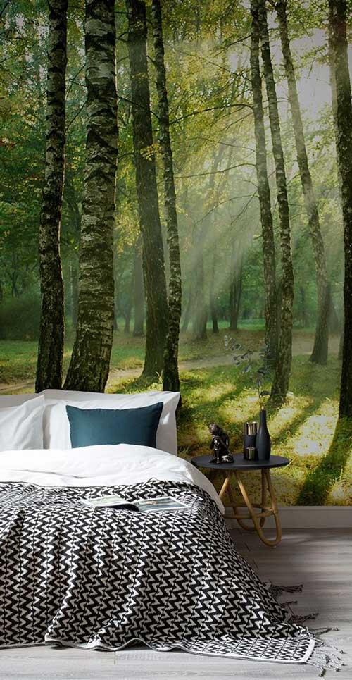 Foto tapete za spavaće sobe šumska staza