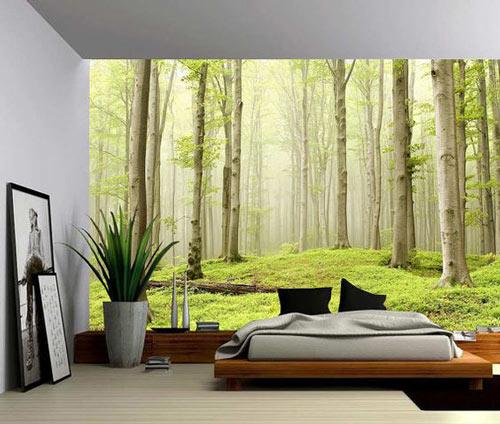 Foto tapete za spavaće sobe šumski pejzaž