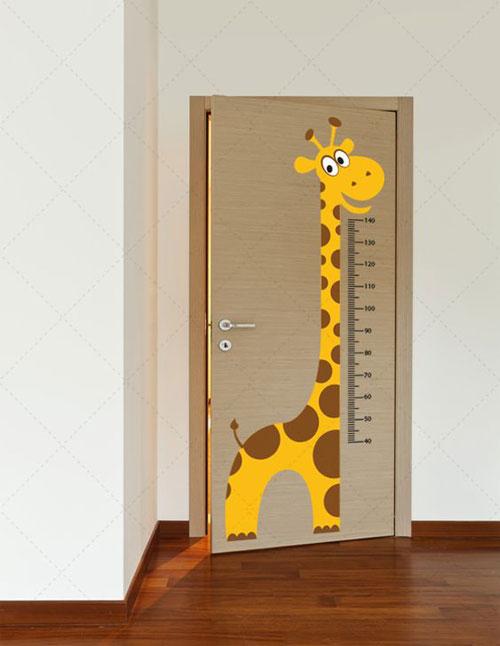 Samolepljive foto tapete za vrata dečije sobe - žirafa