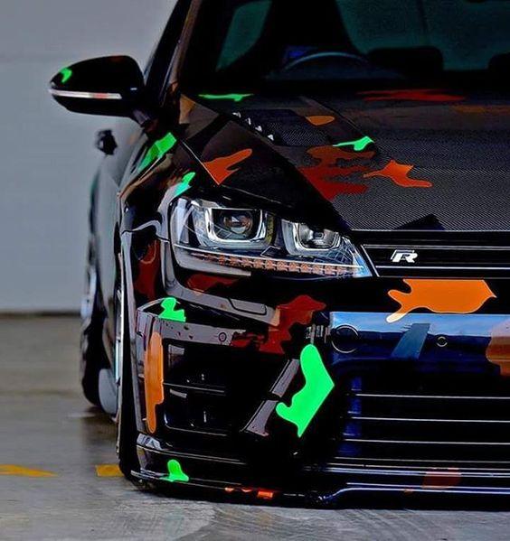 Auto folije šareni oblici