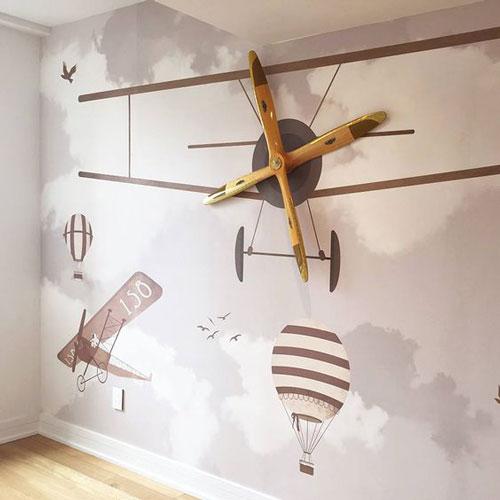 Avion i baloni foto tapete na zidu