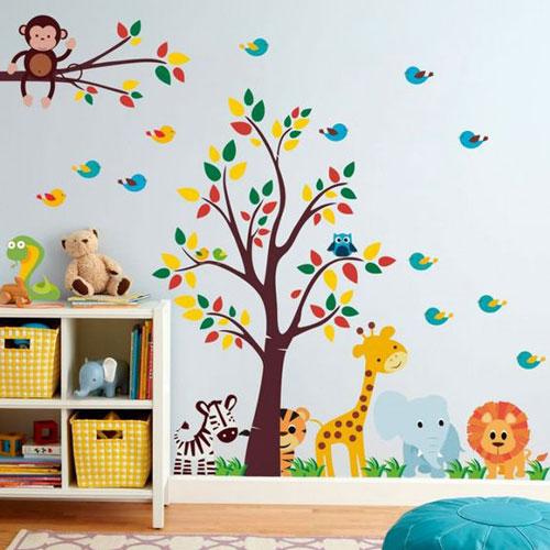 Foto tapete na zidu dečije sobe