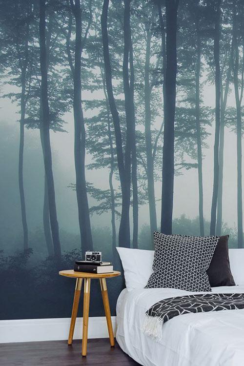 Foto tapete za spavaću sobu Magla u šumi