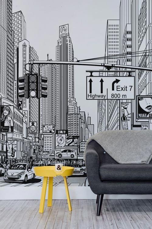 foto tapete za dnevne sobe New York