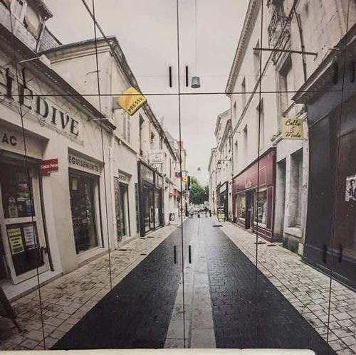 Ideje za foto tapete orman ukrašen slikom ulice