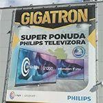 Meš platno fasadna grafika reklama za Gigatron