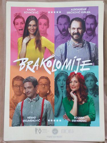 Promotivni poster - plakat za predstavu Brakolomije