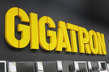 3D slova od stiropora Gigatron