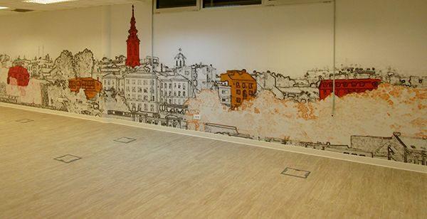 Foto tapete za kancelarije i poslovni prostor panorama Beograda