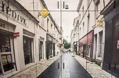 Foto tapete orman sa motivom gradskih ulica